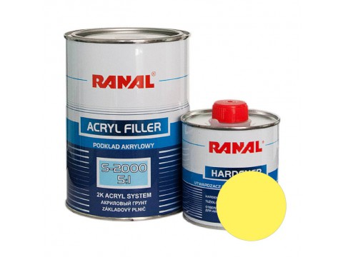 Ranal S-2000 Acryl Filler 5:1 Yellow 1l